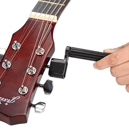 Andoer® 5-en-1 accessoires Guitare chaîne Enrouleur Extracteur pont Pin PEG String action jauge règle mesurer Liutaio String Pince Cutter Pick Plectrum ...