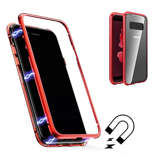separation shoes 16809 2011a Galaxy Note 9 Magnetic Adsorption Case,Shinetop Metal Frame Tempered Glass  Back with Built-in Magnet Flip Cover [Support Wireless Charging] Full Body  ...