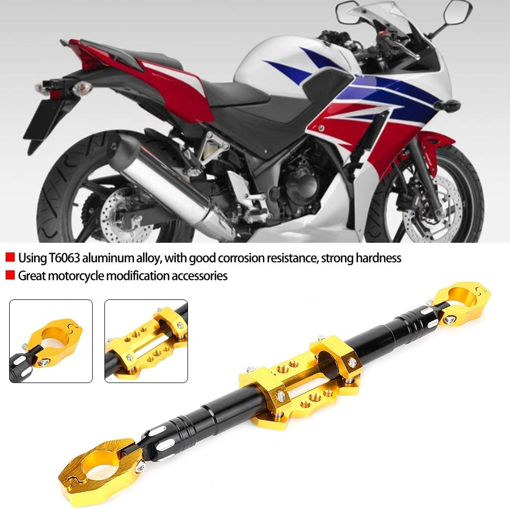 Yellow Terisass Motorcycle Balance Bar Metal Modification Accessories Faucet Balance Bar Cross Bars Moto Handlebar Balance Bar