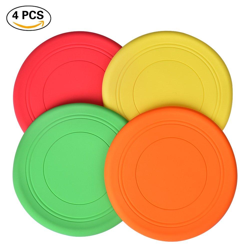 Towinle Unisex Youth B07FCBS3GR 4Stk Frisbeescheibe in Verschiedenen Farben Softe Wurfscheibe Weiches Verdickte Frisbee für Kinder Sport, 26 x 22 x 3,5 cm