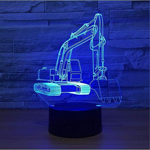 Wangshengchao Excavadora de Caracol de 7 Colores, lámpara 3D de ...