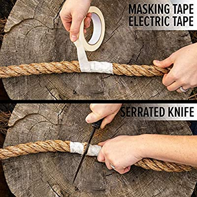 SGT KNOTS Twisted Manila - Naturla Tan/Brown Rope for Indoor and Outdoor Use - 1/4 inch x 100 ft