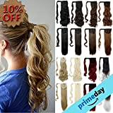 #5: Lelinta 3-5 Days delivery Wrap Around Synthetic Ponytail Clip In Hair Extensions One Piece Magic Paste Pony Tail Long Wavy Curly Soft Silky For Women Fashion and Beauty