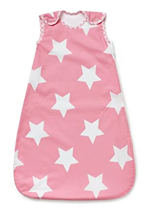 los angeles 9eac2 81796 Baby Sleeping Bag, Pink with White Stars, 2.5 Tog (0-6 months)