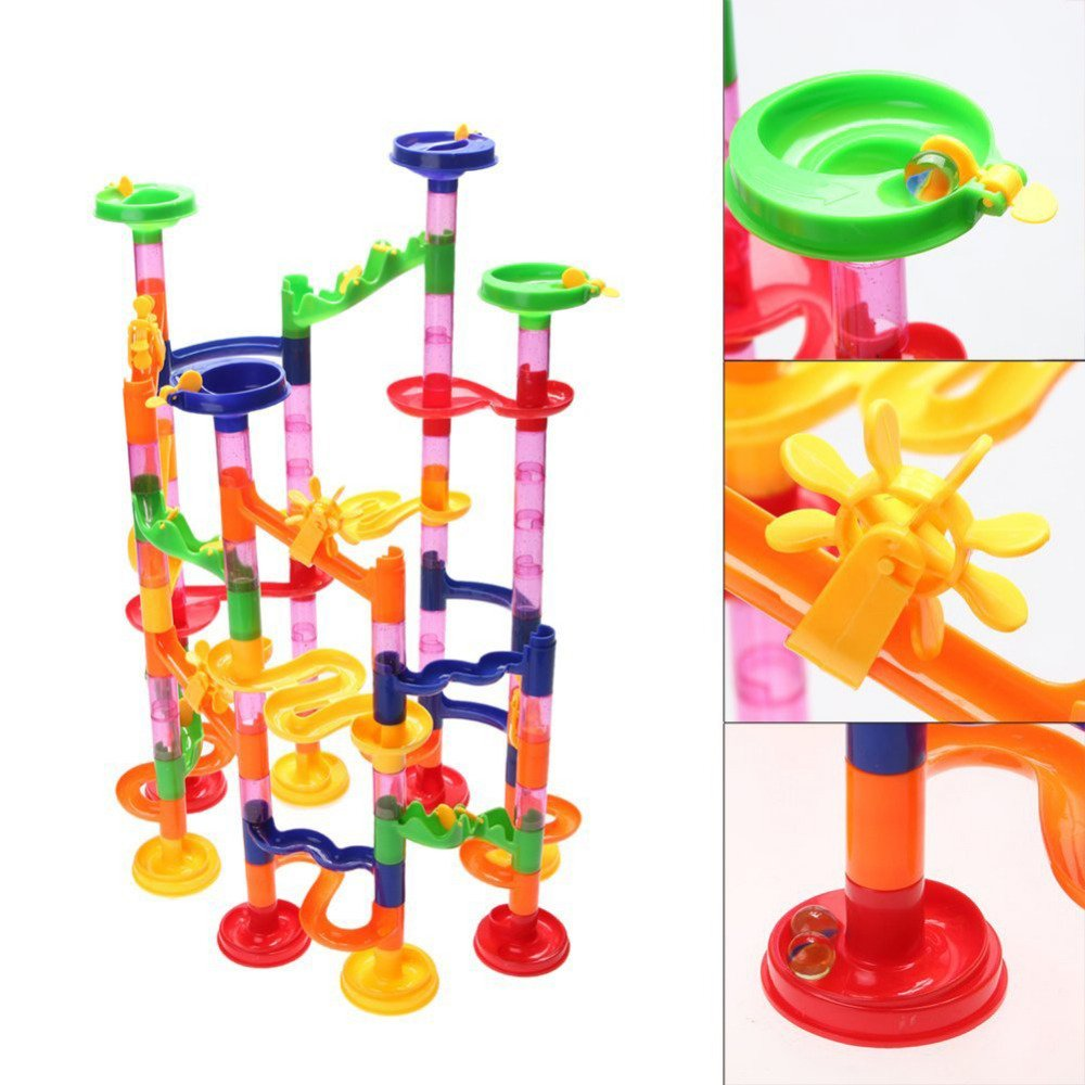 Liushuliang Marble Run Toy Super Set 105pcs Railway Games Construction Building Blocks Toys Set Gift For Kids