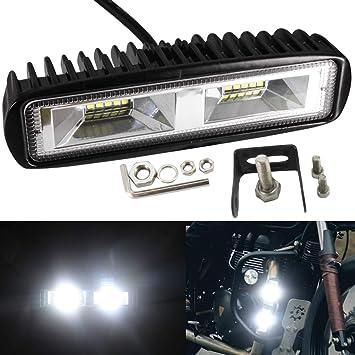 Luz de trabajo LED de 12 V con focos, faros antiniebla de 20 W,