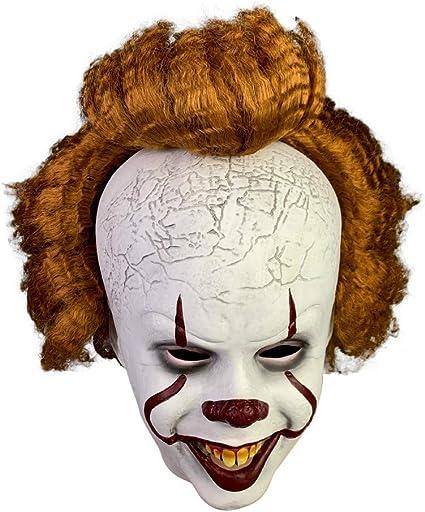 Halloween Scary Clowns Props 2020 Amazon.com: yeyoxin 2020 Halloween Clown Mask Scary Full Head with