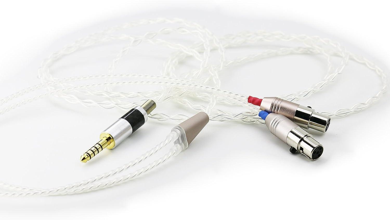 Ablet Hifi Kabel Mit Symmetrischem 4 4 Mm Stecker Für Elektronik