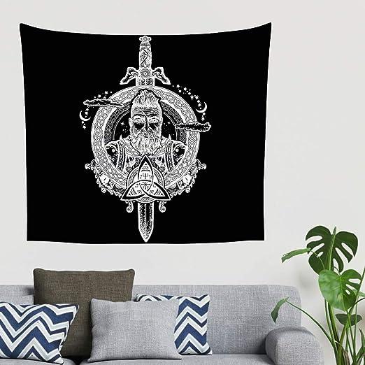 Indio negro nordico vikingo espada del osito guerrero casco de la ...