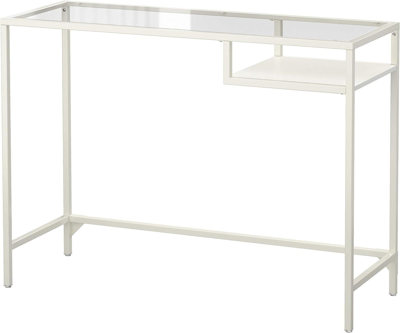 IKEA Vittsjö Laptop Table, White, Glass