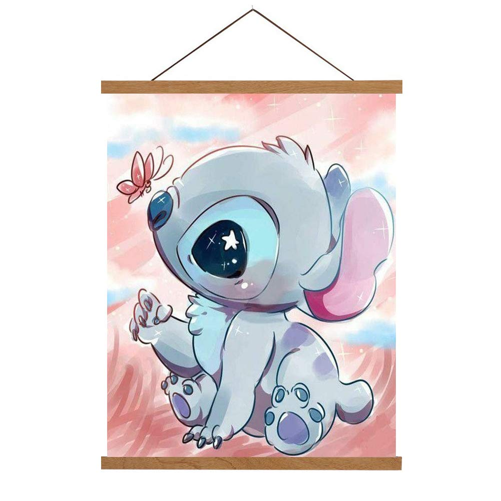 5D DIY Full Drill Diamond Painting Kit, Rhinestone Painting Kits for Adults and Children Embroidery Arts Craft Home Decor Cartoon Anime Series14 x 18 inch (Stitch, 35x45cm)