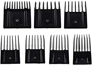 Miaco Universal Clipper Guide Comb Guard Set, 7 Pieces fits Oster Classic 76, A5, Andis AG, BG, etc.