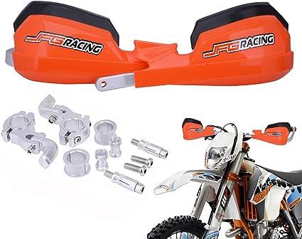28mm pour VTT Quad 1 Paire Prot/ège-mains de Motocross en Aluminium avec Kits de Montage Universels 22mm Prot/ège-mains de Moto Noir