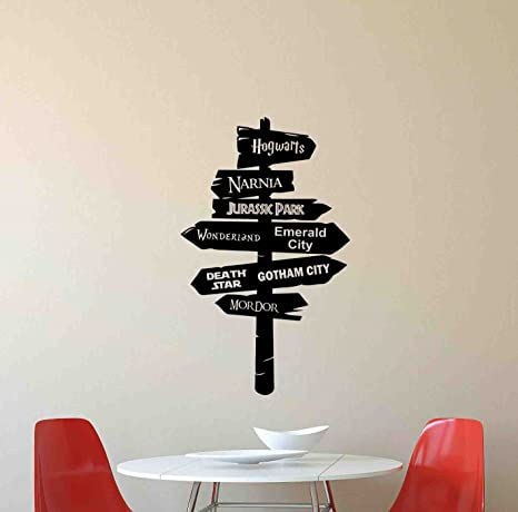 Amazon.com: Road Sign Wall Decal Way Pointer Harry Potter ...