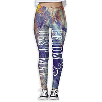 74fe79f300d1b Image Unavailable. Image not available for. Color: Groom Best ManDancing  Beauty Leggings - Printed Yoga ...