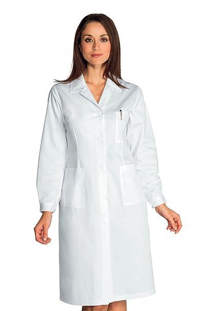 Isacco-Blusa sanitaria para mujer, manga larga, color blanco, 100% algodón: Amazon.es: Ropa y accesorios