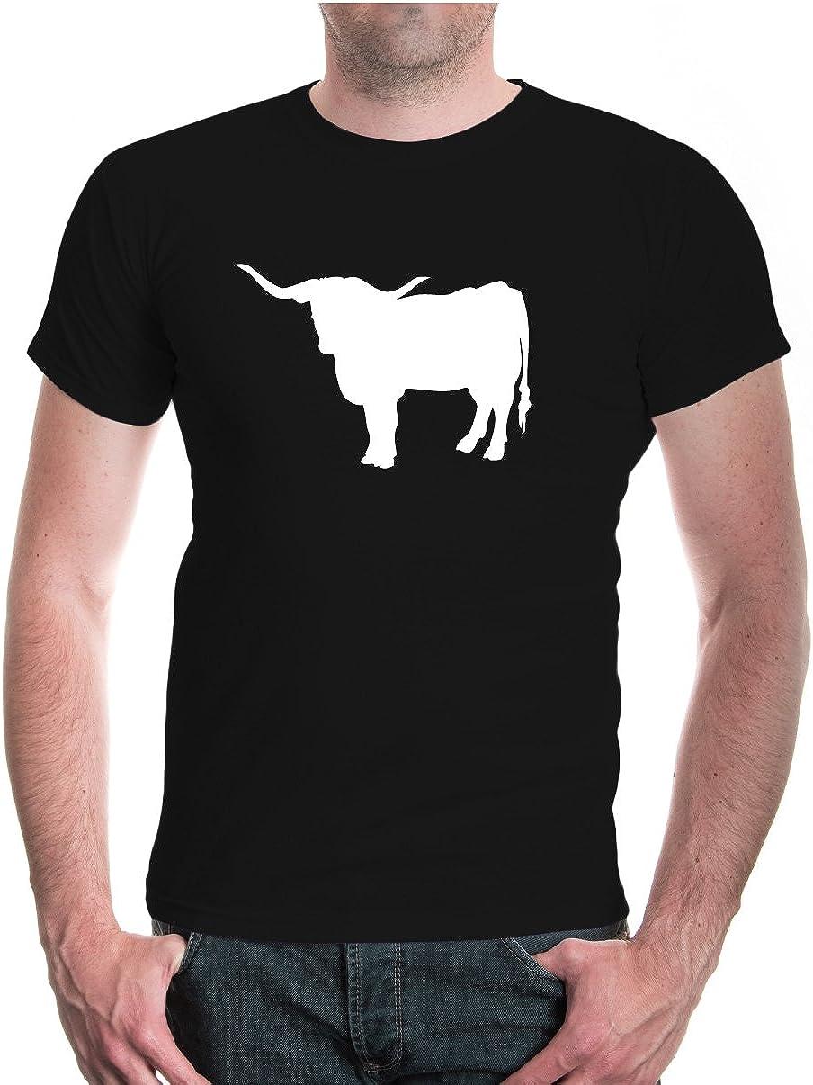 Camiseta de Toro Blanco y Negro XX-Large: Amazon.es: Ropa y accesorios