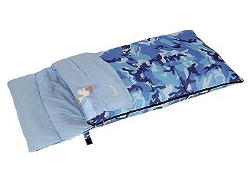 Bertoni Bimbo Junior 150 Camuflaje Azul Saco de Dormir Infantil para Acampada o Casa, Camuflaje Azul, Tamaño Único: Amazon.es: Deportes y aire libre