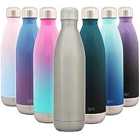 Simple Modern Wave Termo Botella de Agua de Acero Inoxidable - Botella termica con boca estrecha aislada al vacío doble pared sin BPA para Deporte o Viaje Prueba de Fuga, para aquas frias y calientes.