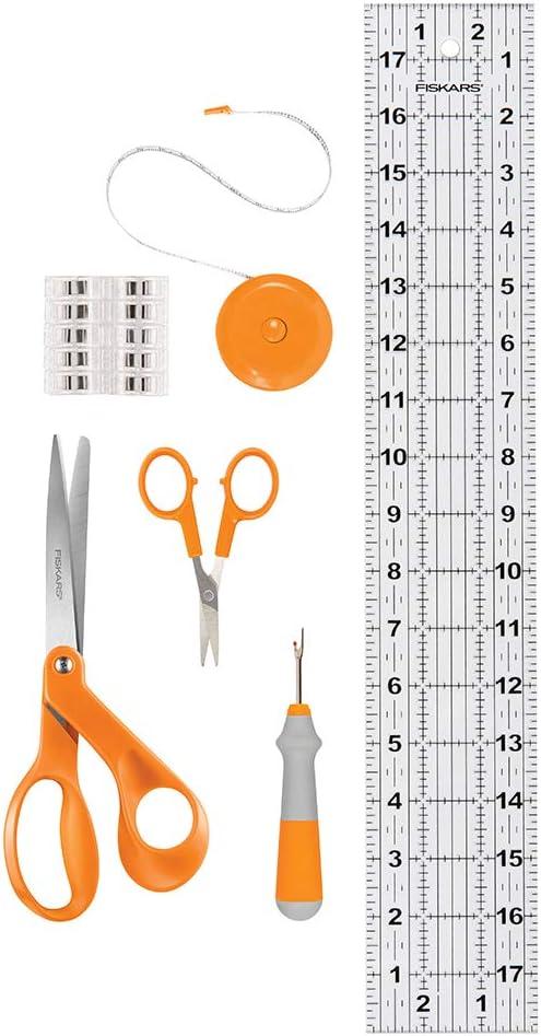 Fiskars Beginner Sewing Set (6pc), Orange 6 Count