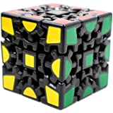 Elstek Magic Combination 3d Gear Cube I Generation Black Painted Stickerless Twisty Puzzle