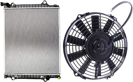 Scitoo Radiador + Ventilador de refrigeración para Toyota Tacoma ...