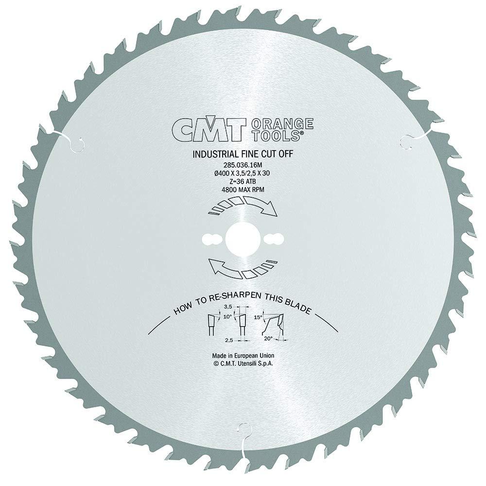 CMT Orange Tools Kreissägeblatt HW 400 x 3,5   2,5 x 30 Z36 10° ATB - 285.036.16M - für ausrissfreie Längsschnitte B00JBJC6OO | Ab dem neuesten Modell