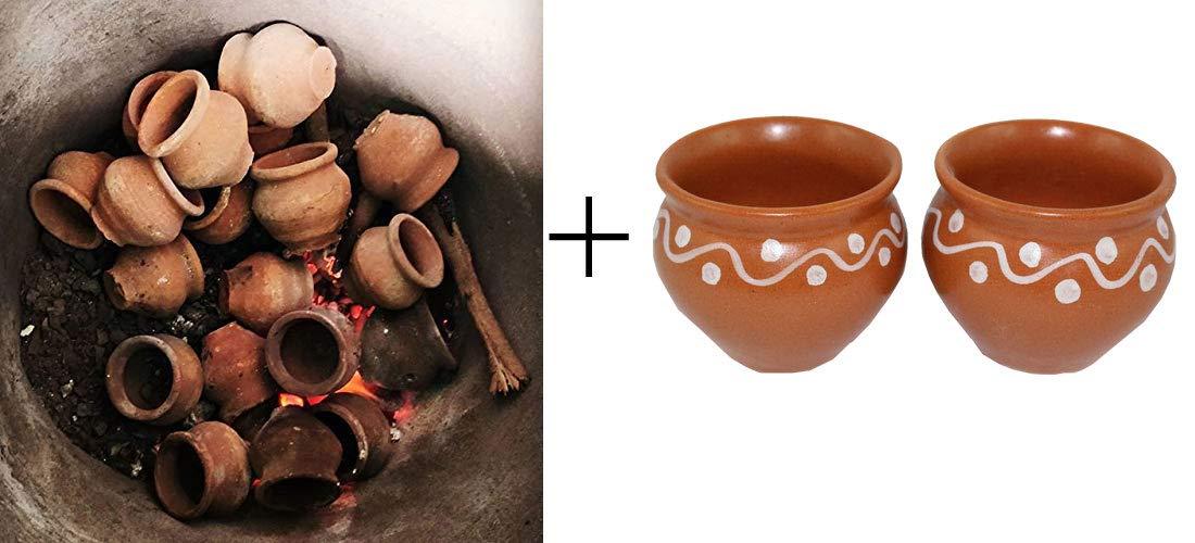 Odishabazaar Baked Kulhar Clay Kulhad Cups Tandoori Chai Tea Cup (td-9)