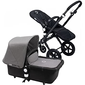 bugaboo 2015 cameleon 3 stroller with extendable canopy all blackgrey melange - Black Canopy 2015