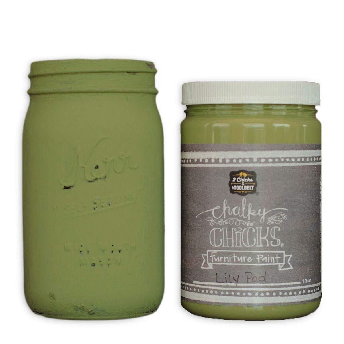 Chalk Finish Paint - Furniture & Cabinet Paint (32 oz, Lily Pad)