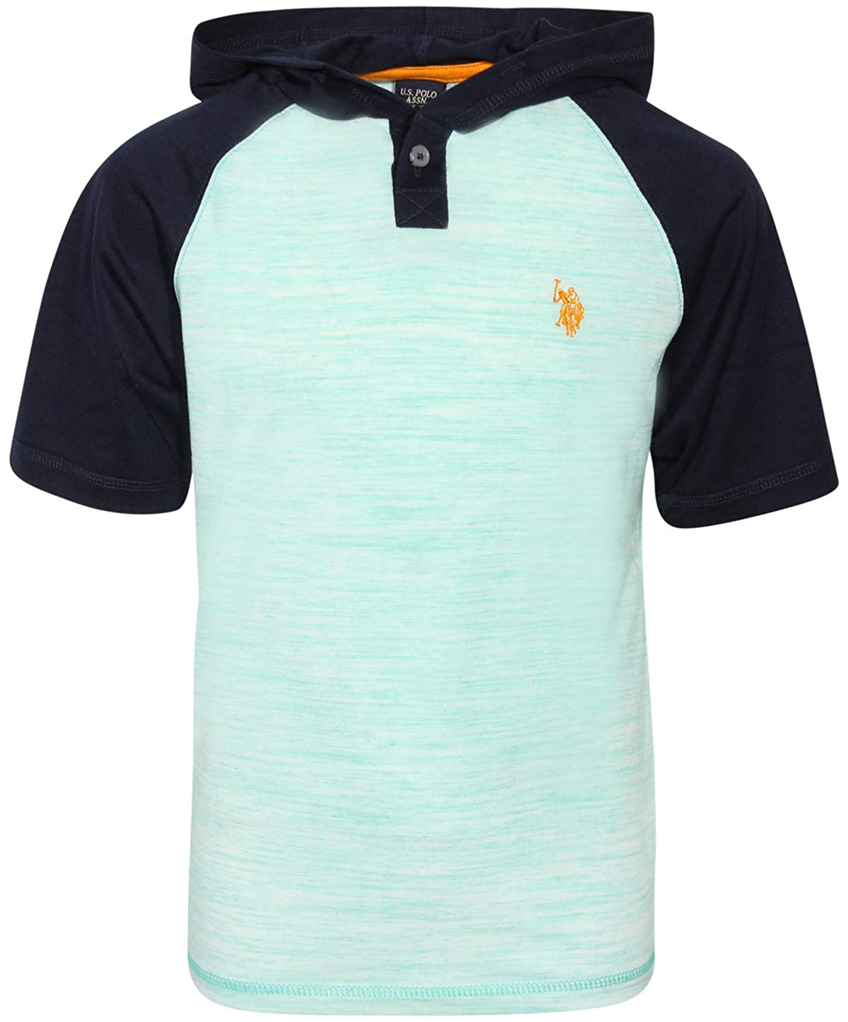 2 Pack Polo Assn U.S Boys Lightweight Pullover T-Shirt with Hood