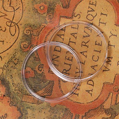 Sa0718 Scatola 27 Archiviazione Dell'organizzatore Plastica Capsule Mm Raccolta 100 Rifornimenti Con Portamonete Rotondo Di Monete Pezzi Per ZFxw8qH6