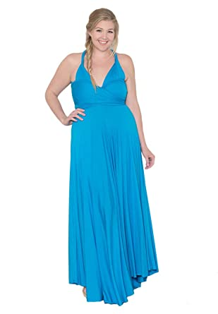 SWAK Womens Plus Size Eternity Maxi Convertible Dress