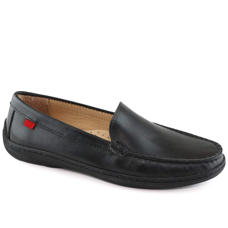 MARC JOSEPH NEW YORK Kids Boys/Girls Casual Comfort Slip On Venetian Loafer Black Napa 4