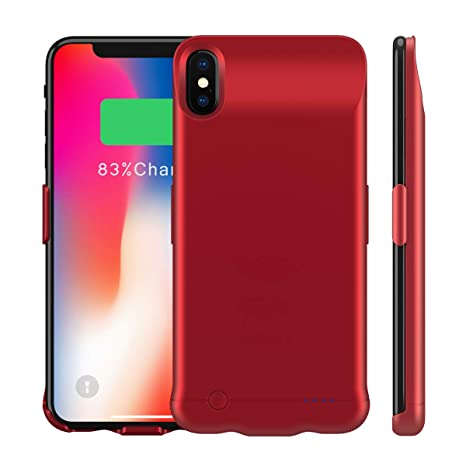 brand new a6ebf e99ed Moonmini Compatible iPhone Xs Max Battery Case, 6200mAh Rechargeable  Portable External Backup Charger Pack Slim Extended Power Bank Charging ...