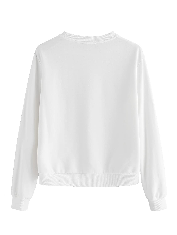 37b8e4733e Romwe Women's Tee Wink Eyes Print Graphic Short Sleeve Loose Cute Sweet T- Shirt at Amazon Women's Clothing store: