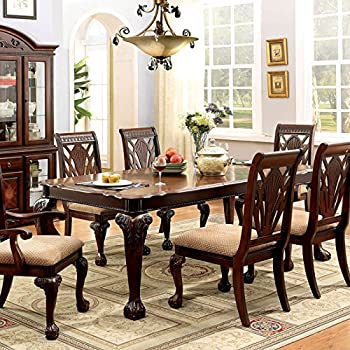 Petersburg English Style Cherry Finish 9 Piece Formal Dining Table Set