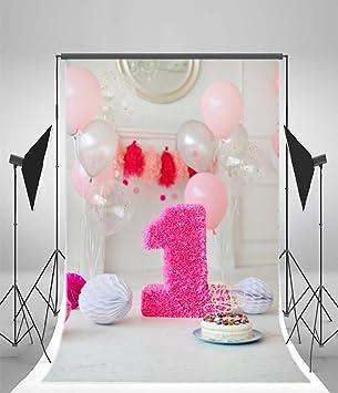 Amazoncom Yeele 5x7ft Baby Girl 1st Birthday Party Photography