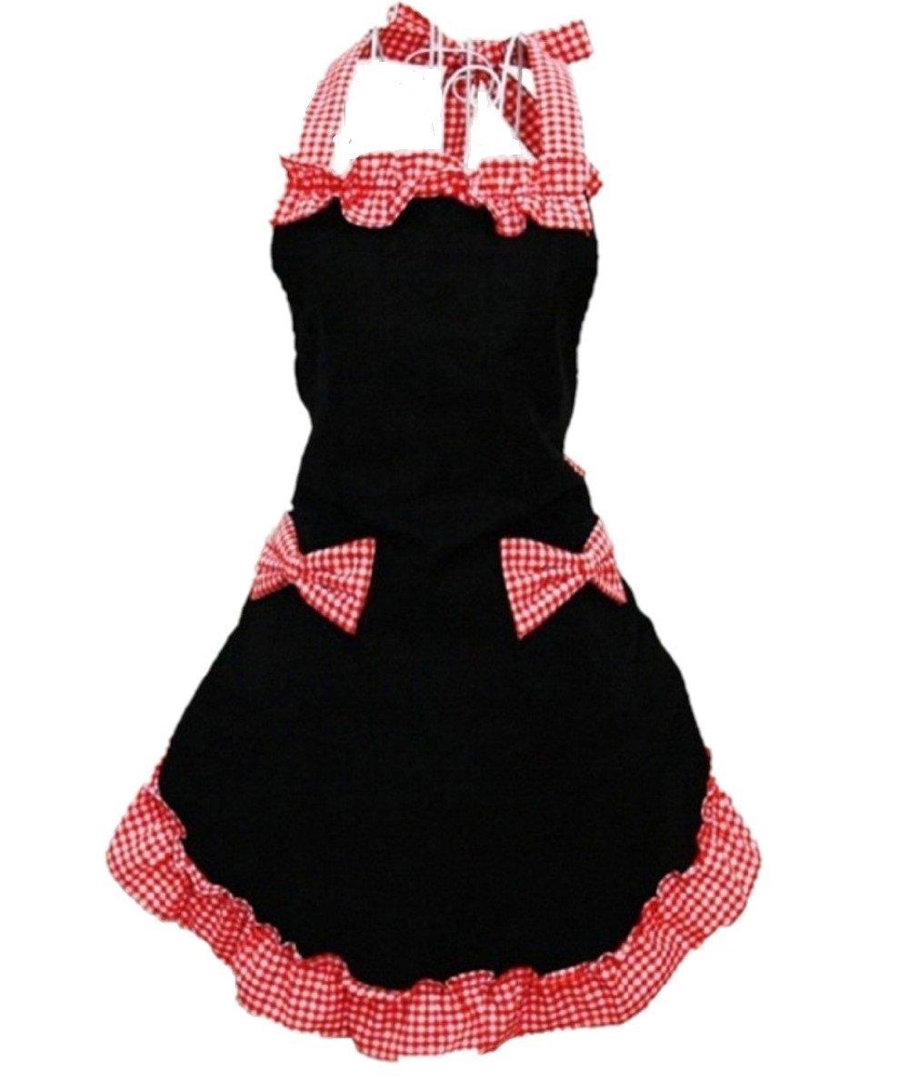 Black apron for the kitchen