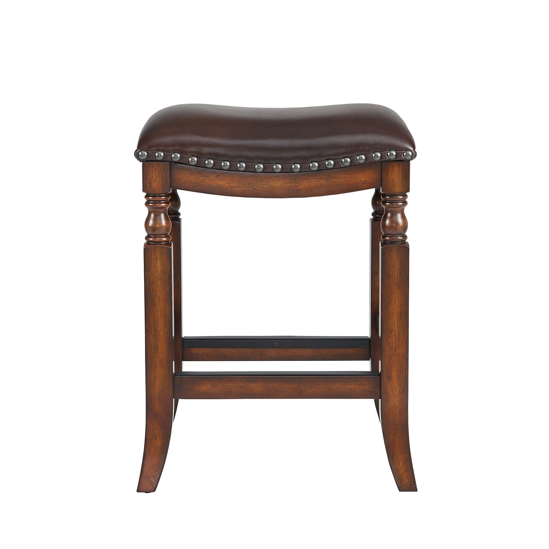 Amazon.com: Ashton Top Grain Leather Seat Bar Stool, Walnut Finish: Kitchen  U0026 Dining