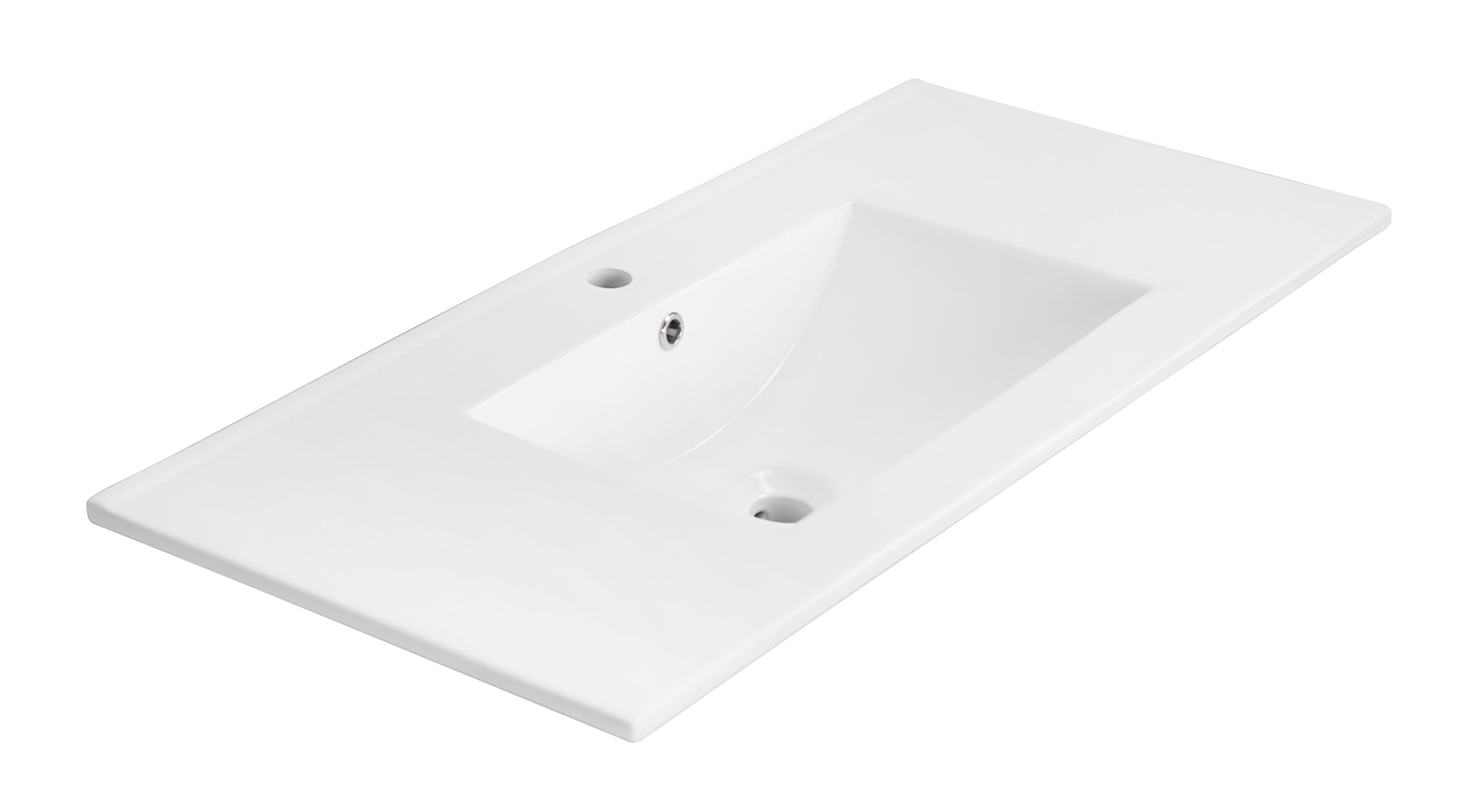 American Imaginations 659   36-Inch  X 18-Inch  White Ceramic Top with Single Hole by American Imaginations