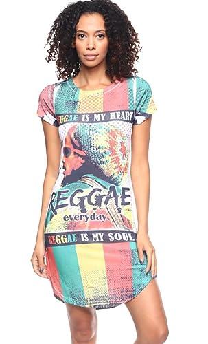 Oops Style Womens Sexy Printed Short Sleeve Mini Club Tshirt Dress