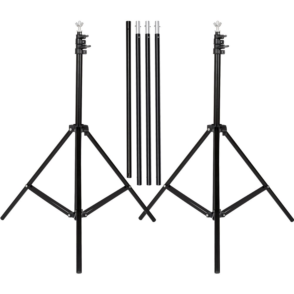 SH Background Stand, 6.5 x 10FT Heavy Duty Background Stand, 2x3M Backdrop Support System Kit with Carry Bag for Photography Photo Video Studio,Photography Studio by SH (Image #3)