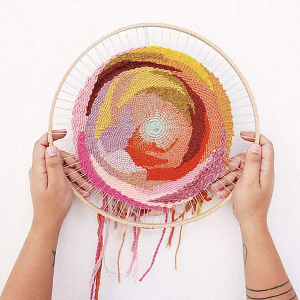Knitting Loom Tools und Wooden DIY Handmade Household Needle Machine Wall Hangings Ornaments Tapestry Weaving Coaster