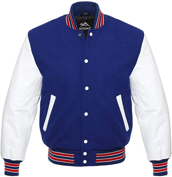 80s Windbreakers, Jackets, Coats Original Baseball Bomber Varsity Letterman Jackets (40 Team Colors) Wool & Leather XS to 3XL $99.99 AT vintagedancer.com