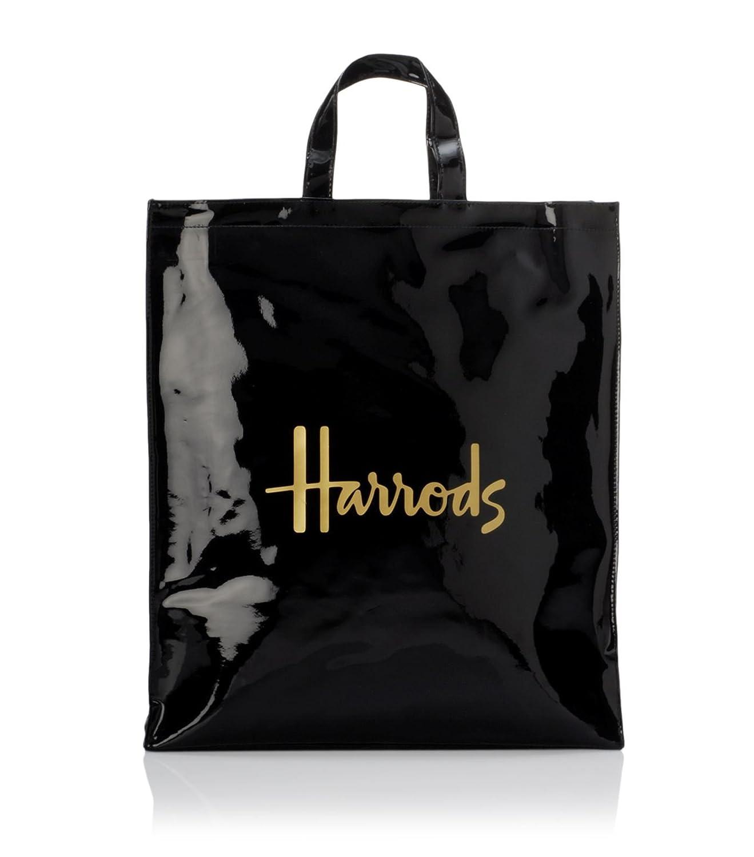 (ハロッズ) Harrods 正規品 PVC トートバック Harrods Signature Shopper Bag 黒 裏地付 B079SQZB7R Lサイズ|Lサイズ Lサイズ Lサイズ