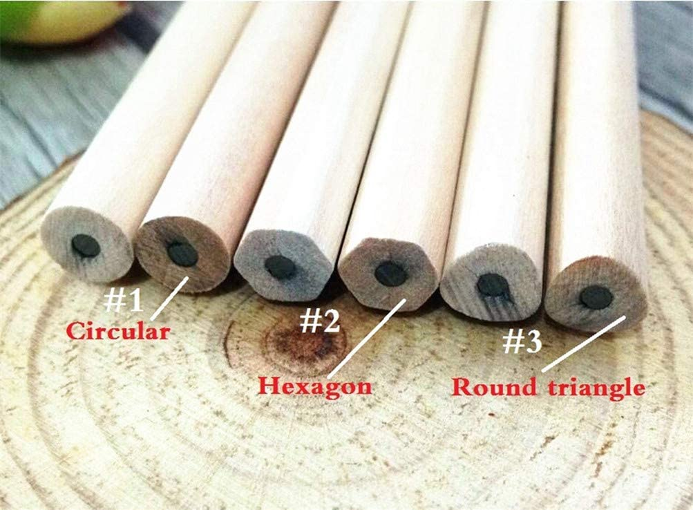 ,NO3-Round-triangle,F 4 PIECES Students Simple Empty wooden pencils painting pens for children