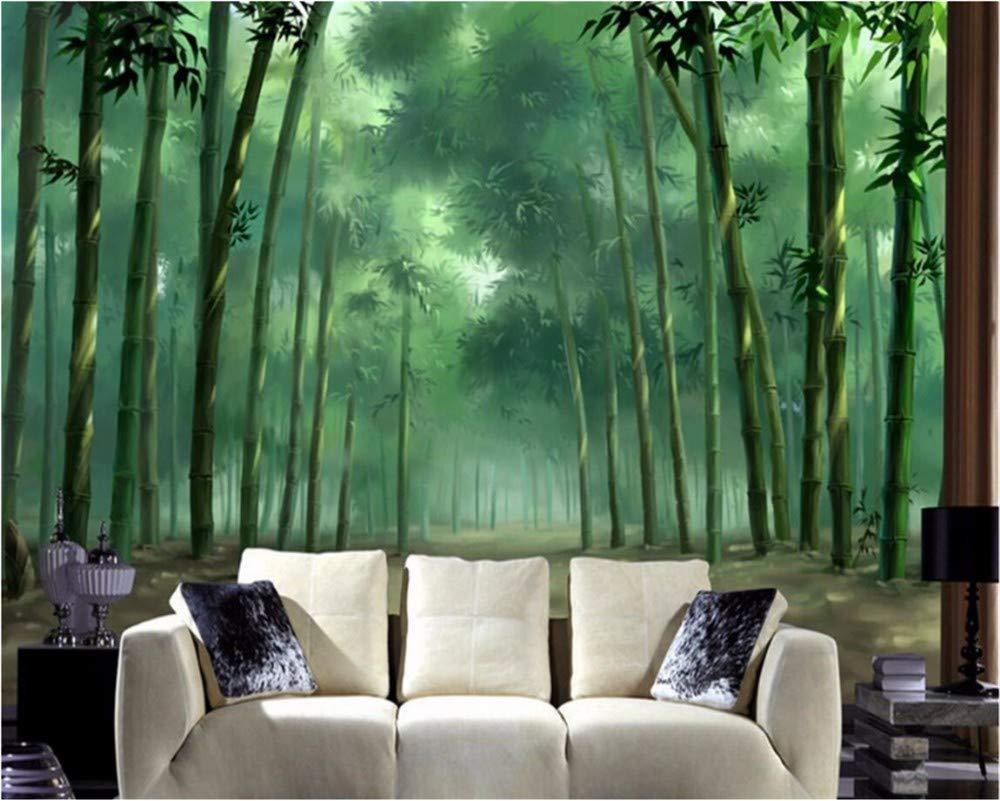 Weaeo カスタム壁紙の壁紙3Dリビングルームモダンハンドは、Hdバンブーグリーン写真壁画の3D壁紙を描いた-280X200Cm B07HCBDHQK 280X200CM 280X200CM
