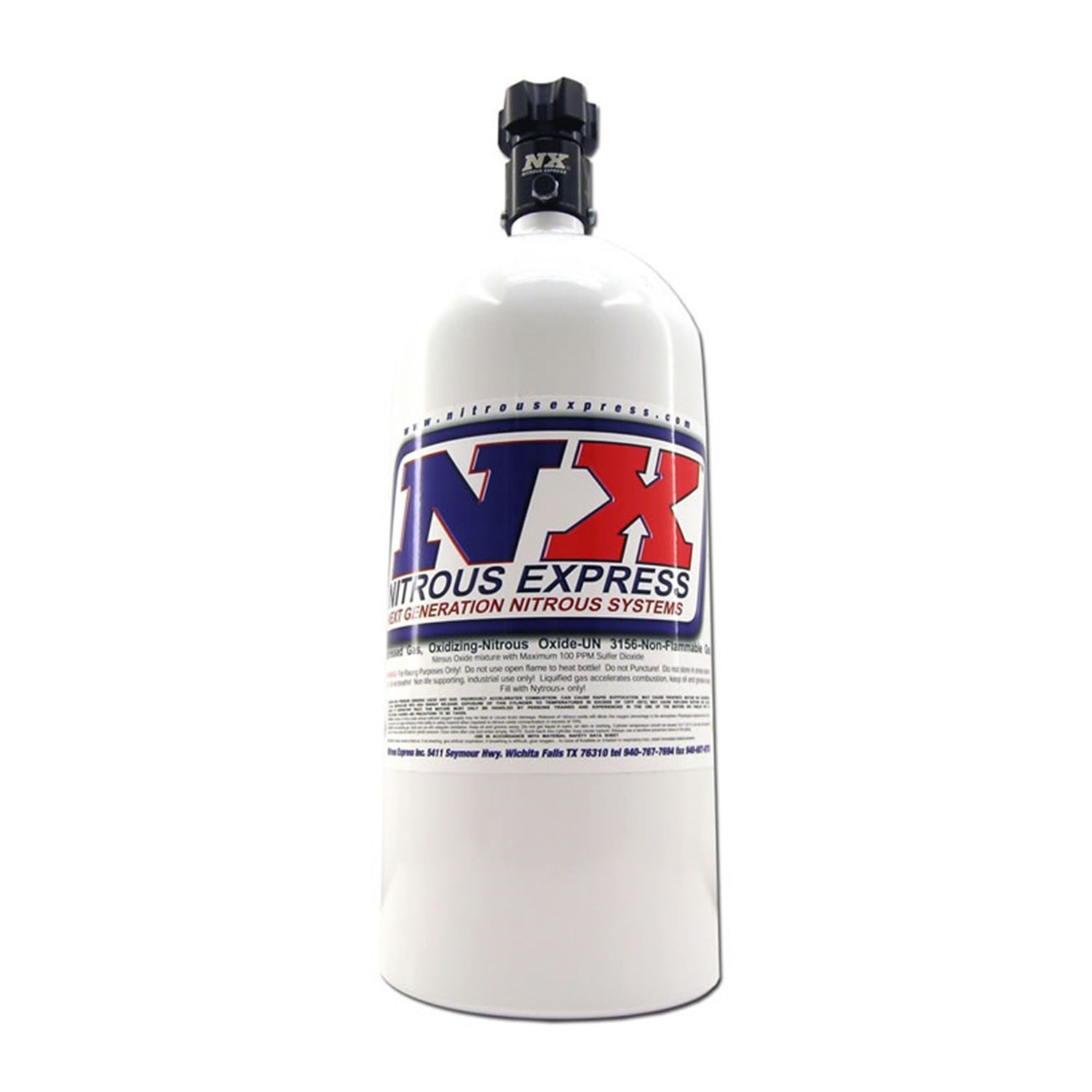Nitrous Express 11100 Nitrous Bottle with Standard L45 Valve - 10 lbs. by Nitrous Express