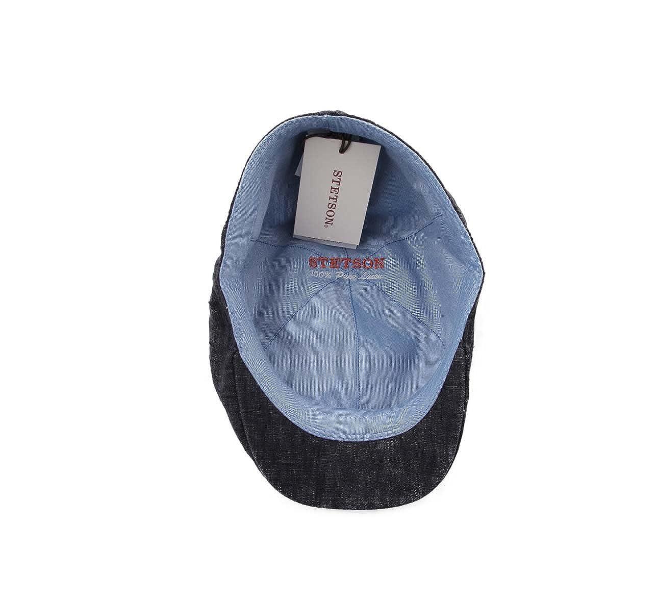Stetson Mens Putnam-Linen Flat Cap